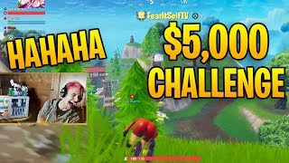 Ninja can't stop laughing after friend losing $5,000 BET!! (Fortnite Twitch Moments)