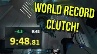 The Most Clutch Portal World Record   Speedrun Community Highlights