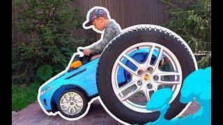 مزج سينيا العجلات لسيارته. قصص مضحكة