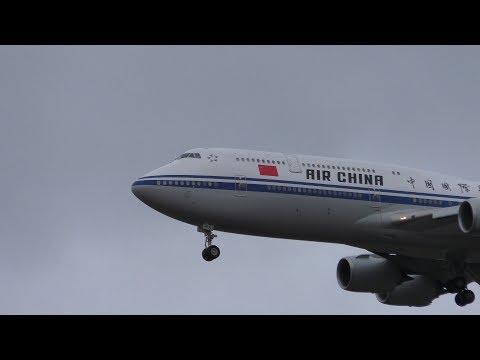 Air China B-2480 landing at Ferihegy 4K