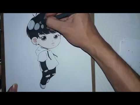 Jimin Chibi Bts Drawing Youtube