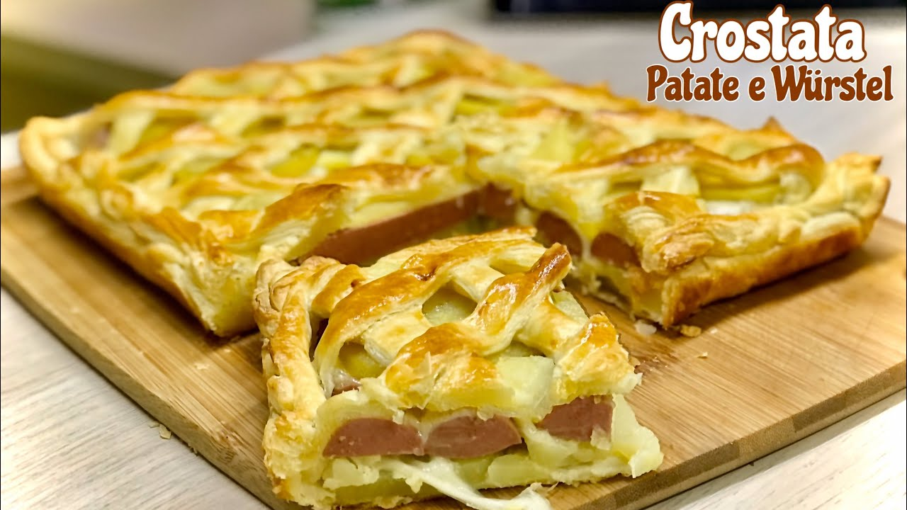 Ricetta Patate Wurstel E Mozzarella.Crostata Patate E Wurstel Ricetta Veloce Potato And Wurstel Tart Youtube