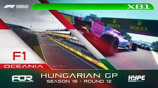 F1 2018 | AOR Hype Energy F1 League | XB1 Oceania S3 | R12: Hungarian GP