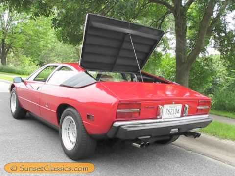 1975 Lamborghini Urraco P111 Engine Sound And Rev Youtube