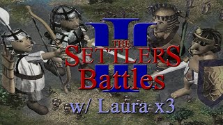 The Settlers 3 Multiplayer Battles! w/ Laura x3