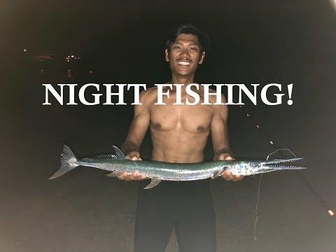 Pier Fishing At Night!