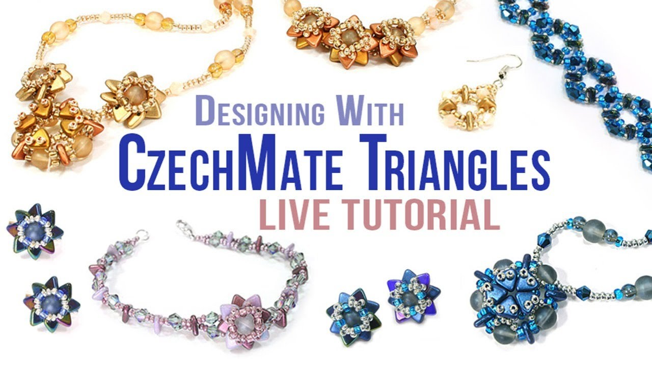 7 Different Jewellery Designs | How To Use CzechMate Triangles | Bead Spider Live Tutorial