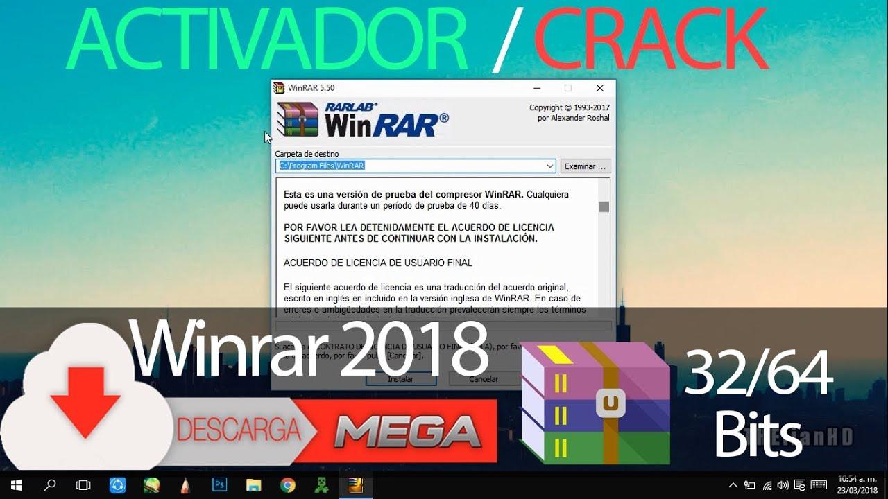 Descargar e Instalar Winrar + Activador 64/32bits MEGA 2018
