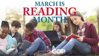 Sen. Bizon celebrates National Reading Month |