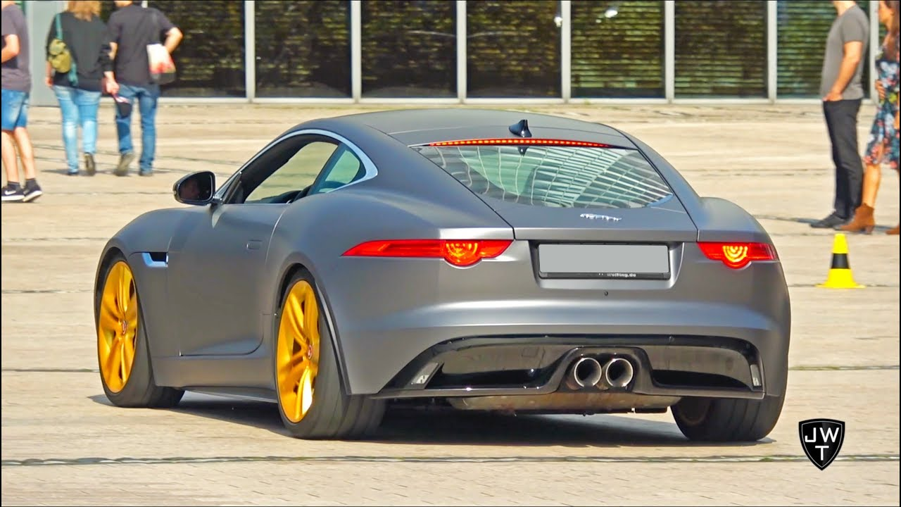 Extremely LOUD Modified Jaguar F-Type S! Acceleration SOUNDS!
