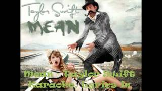 Taylor Swift - Mean - Karaoke/Instrumental