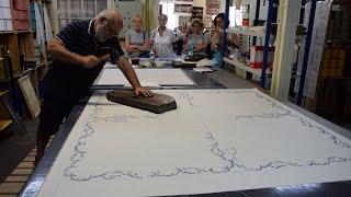 Atelier impression textile toile de jouy