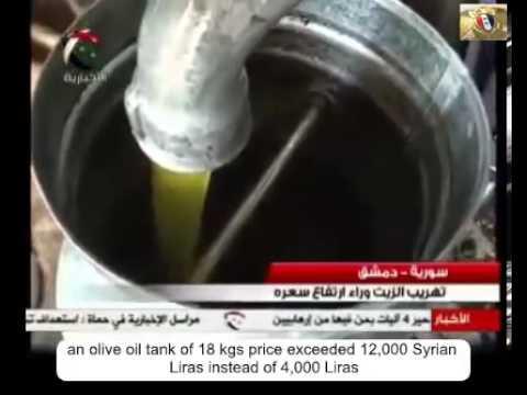 Syria  Olive Oil and Economic Pressure - BiffiSyrien