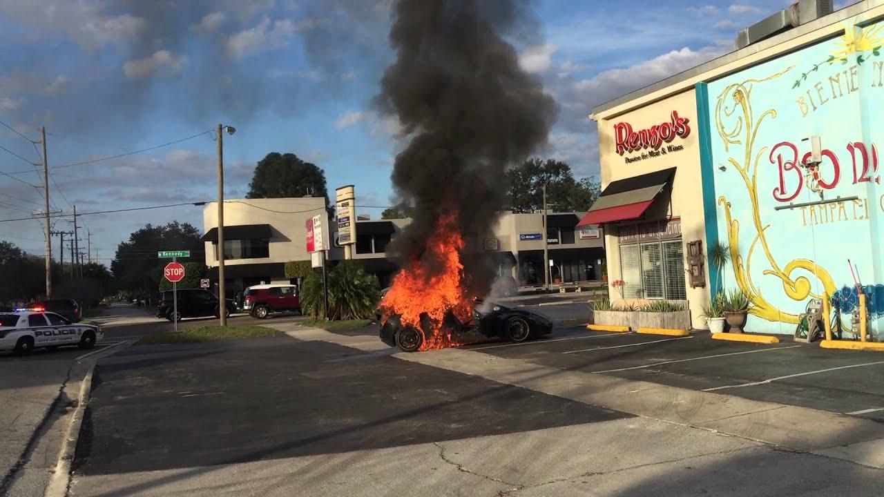 Lamborghini Burning Down Tampa Fl Youtube