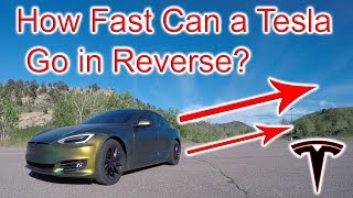 How Fast Can a Tesla Go in Reverse?!?!?!?!