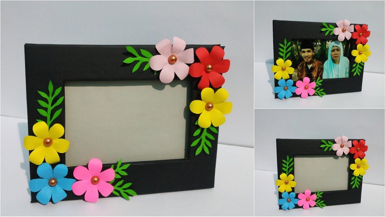 Cara Mudah Membuat Bingkai Foto Dari Kardus Bekas How To Make Photo Frame From Cardboard Youtube Kreasi membuat bingkai foto