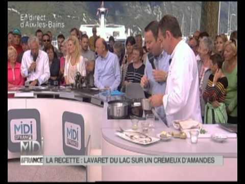 Recette de cuisine lavaret du lac sur cremeux d 39 amandes aix les bains reportage midi en - Recette cuisine sur tf1 midi ...