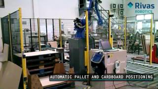 Video: Paletizado de latas y productos almidonados. Cans and starched products palletizing