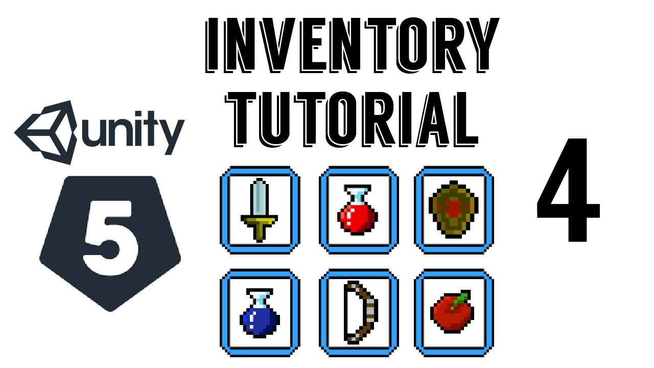 Unity 5 - Inventory System 04 (Items + small Data Base)