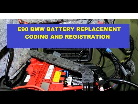 BMW E90 3 Series Battery Replacement With Registration & Coding. Switch From 90 AH to 80 AH