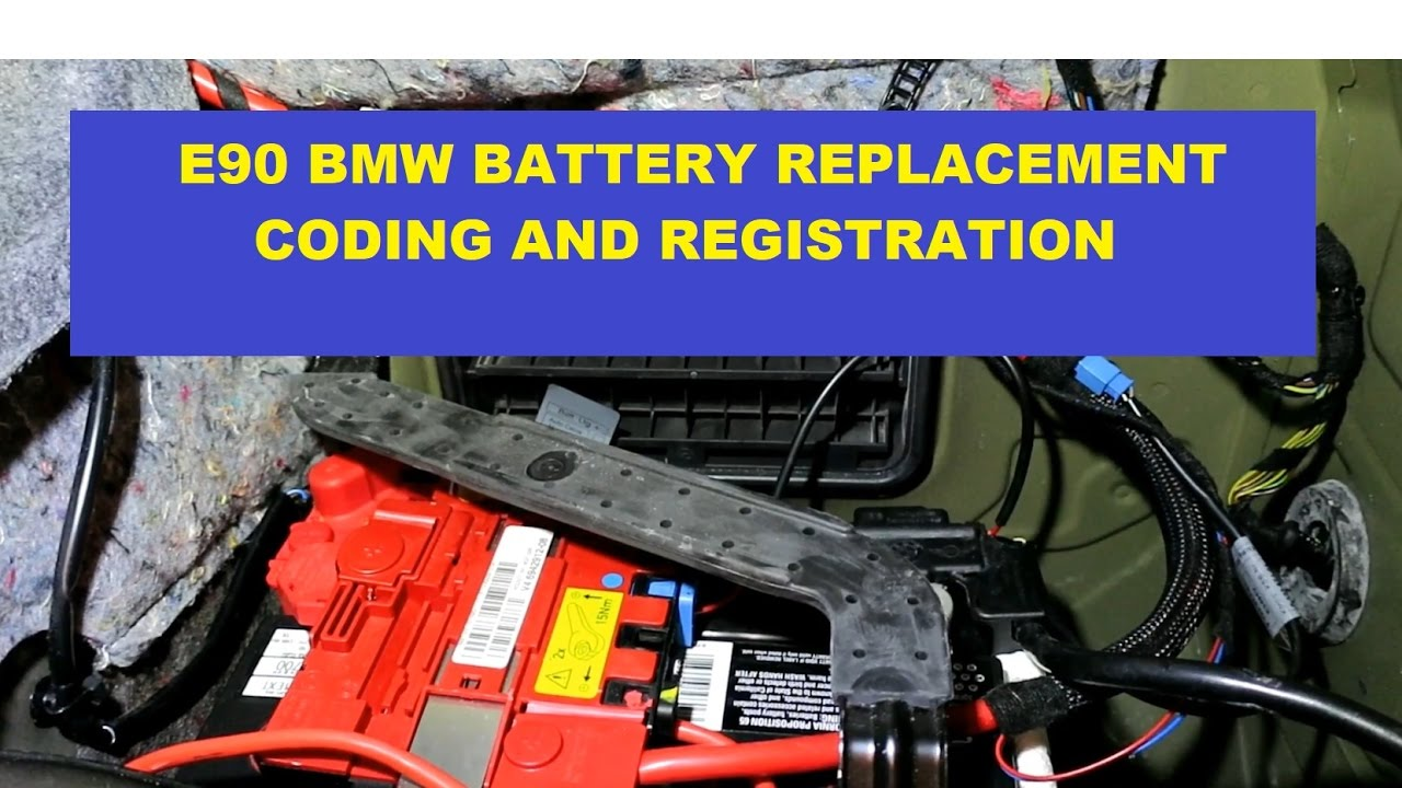 bmw e90 3 series battery replacement with registration & coding  switch  from 90 ah to 80 ah