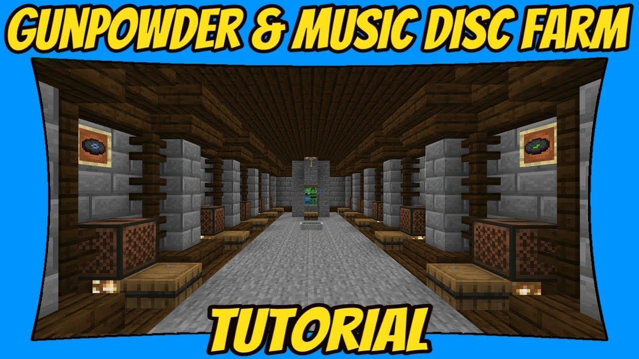Gunpowder Music Disc Farm V20 Tutorial Minecraft Bedrock Edition Mcpe