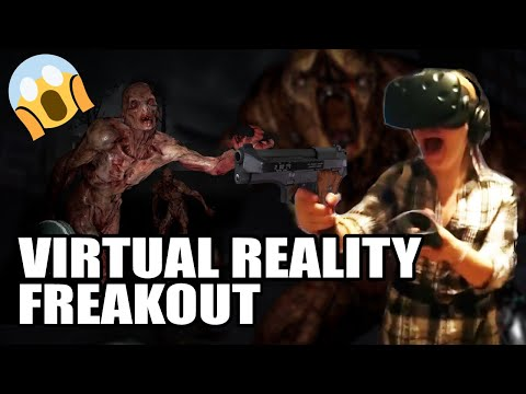 VIRTUAL REALITY! Renate's first time playing The Brookhaven Experiment, 1 wave, and that's enough
