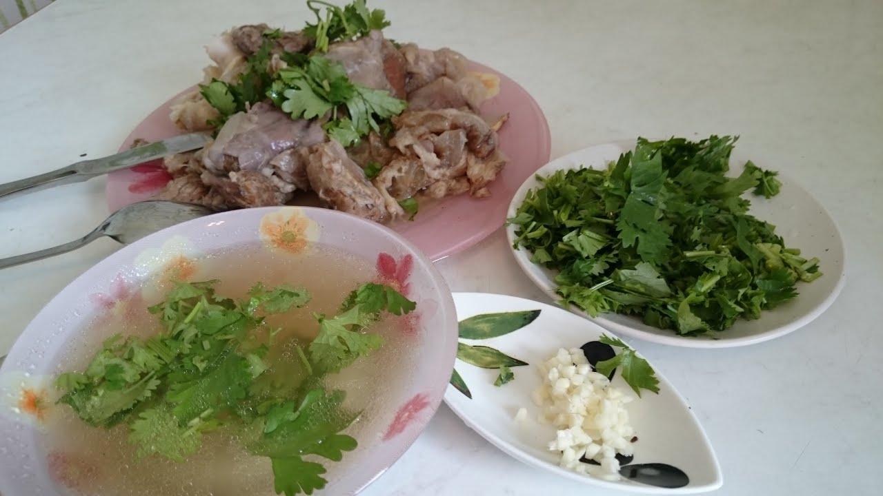 Рецепт хаша из свинины пошагово
