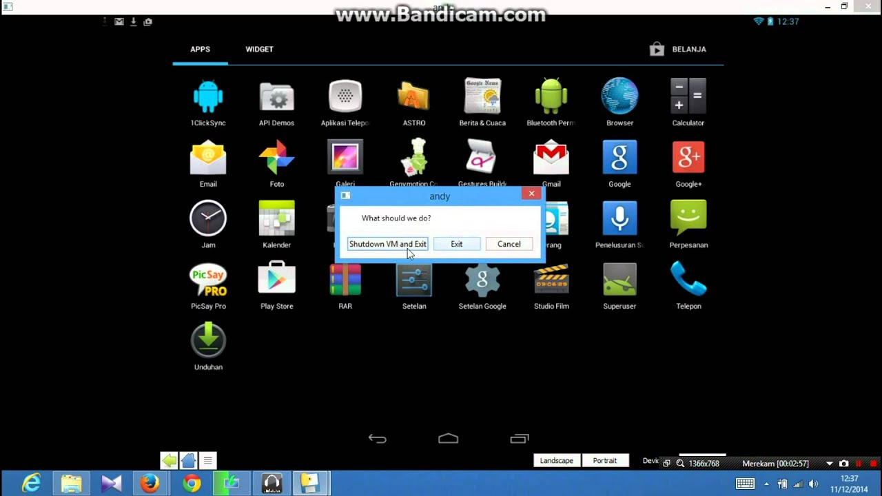 andy android emulator x64 download
