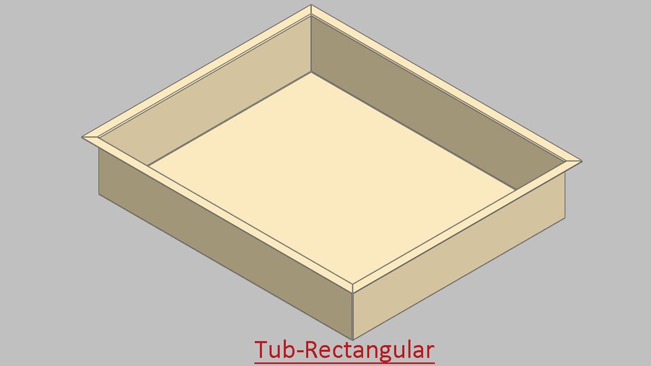 Tub Rectangular Through Sheet Metal Video Tutorial
