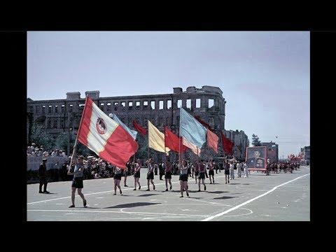 Спортивный парад в Сталинграде 1945 / Sports parade in Stalingrad - 1945