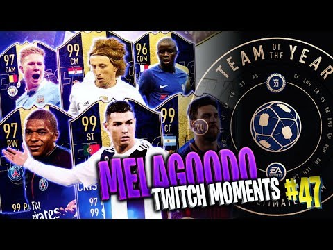 BEST OF TOTY PACK OPENING   4 TOTY 3 ICON   Melagoodo Twitch Moments [ITA] #47
