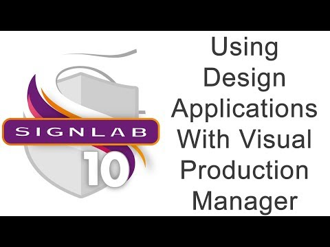 Using Design Applications With Visual Production Manager