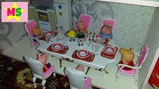 РАСПАКОВКА Мебель для кукол ГЛОРИЯ  столовая (1212) ОБЗОР