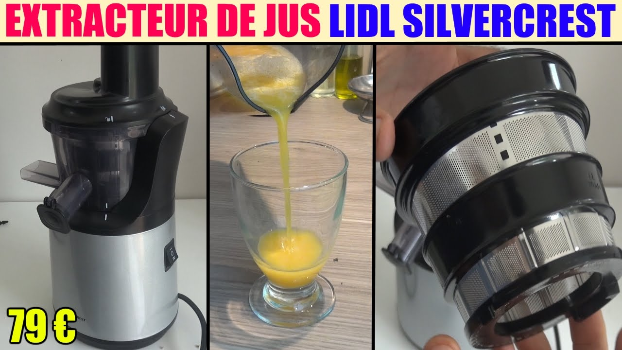 extracteur de jus lidl silvercrest ssj 150 slow juicer - YouTube