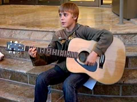 Justin Bieber at 13 in Stratford Ontario