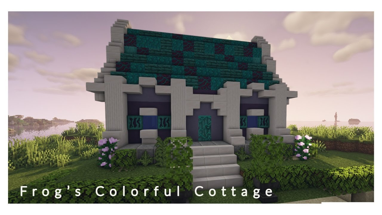 Minecraft Easy Colorful Cottage   Tranquil CottageCore Tutorial