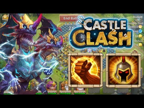 Castle Clash: Demogorgon 8/8 Brute Force Vs War God!