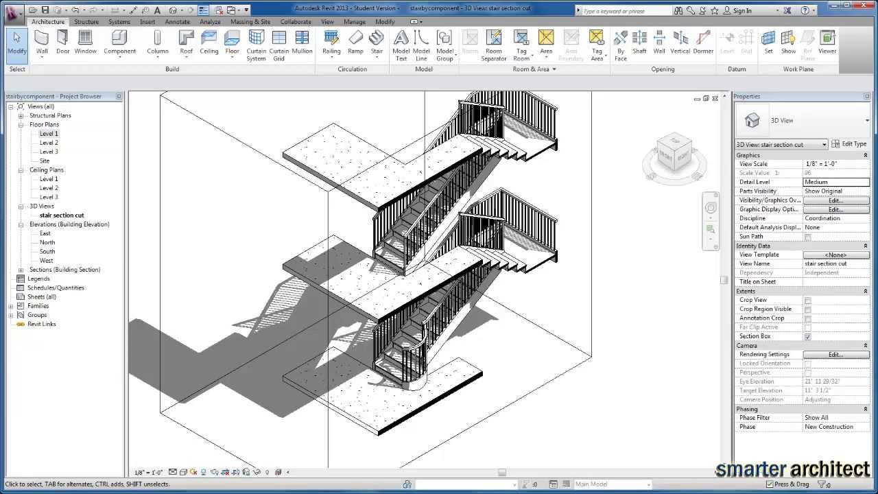 Revit Tutorials Creating Stair By Component Youtube