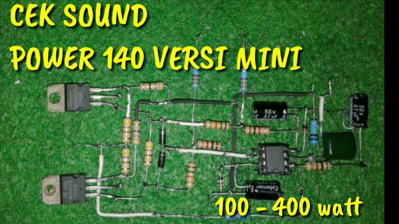 Cek Sound Power Amplifier 140 Watt Versi Mini Dengan Hasil Mantap Youtube