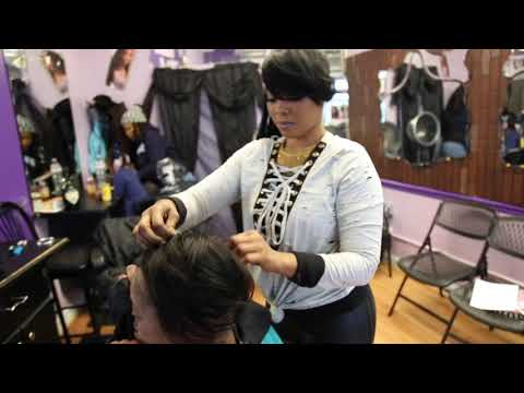 This African Black Woman Is One Beautiful Hair Stylist
