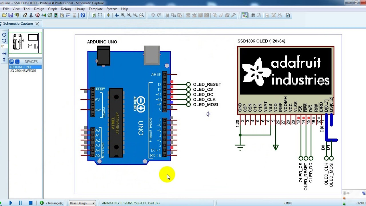 Interfacing Arduino with SSD1306 OLED display - Simple Projects