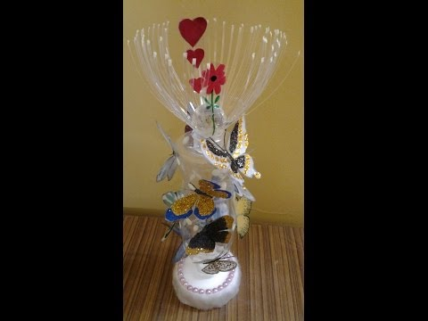 Best Out Of Waste Plastic Cans & Bottles Transformed to Beautiful Butterflies   Show piece