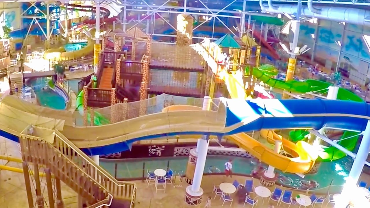 Wisconsin Dells Kalahari Indoor Waterpark Theme Park Tour