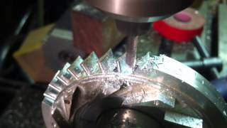 Jet engine Defuser milling 1