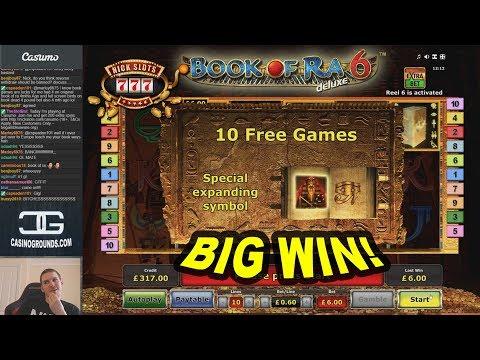 BIG WIN On Book Of Ra 6 Slot - £6 Bet!