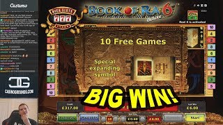 BIG WIN on Book of Ra 6 Slot - £6 Bet!