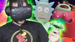 SAVING THE WORLD - RICK AND MORTY VR Virtual Rick-ality HTC VIVE Part 2 FINAL