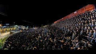 """מסע הקודש למקומות הקדושים """"מירון צפת"""" בראשות האדמו''ר מסאטמאר   Satmar Rebbe Hadlukah in Meron"""