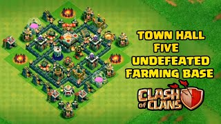 Undefeated Town Hall 5 (TH5) Trophy + Farming Base !! [ Best TH5 Defense 2018 ] - Clash Of Clans